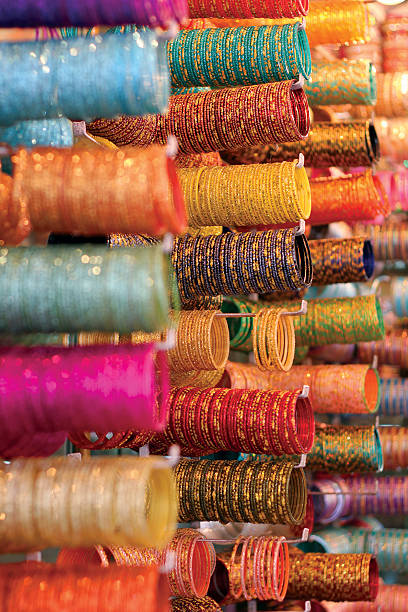 Colorful Bangles sold at Market Bangles for Sale at the Laad Bazaar near Charminar, Hyderabad, India char minar stock pictures, royalty-free photos & images