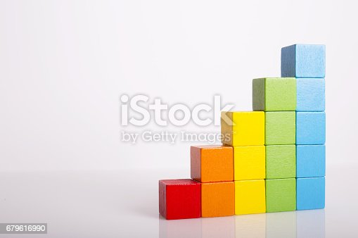 istock Colorful Bars Ascending in Height From Shortest to Tallest 679616990