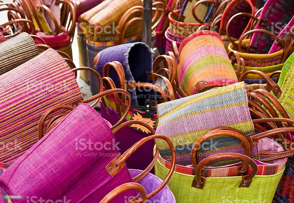 Colorful basket royalty-free stock photo