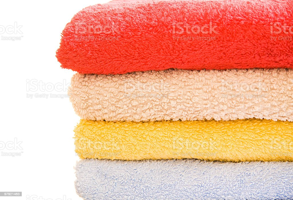 colorful bath towels royalty-free stock photo