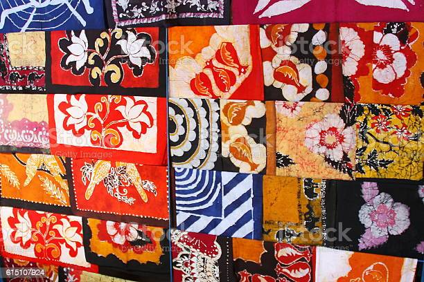 Colorful Batik Sold Along A Street In Sri Lanka Stock Photo - Download  Image Now - iStock