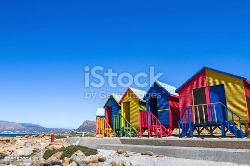 istock colorful beach houses in Cape Town, South Africa 875287024