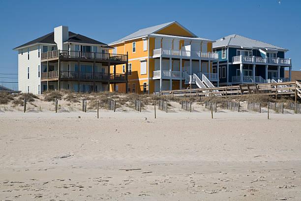 Farbenfrohen Strand-Häusern – Foto