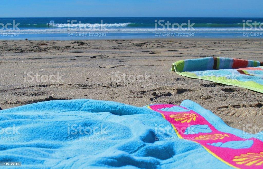 Colorful Beach Scene stock photo