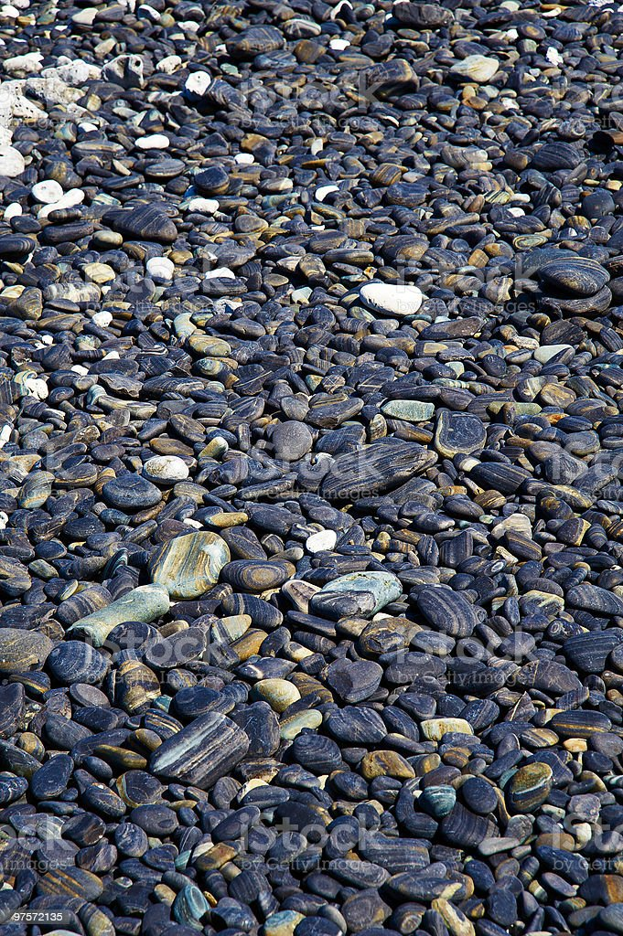 Colorful beach stones royalty-free stock photo