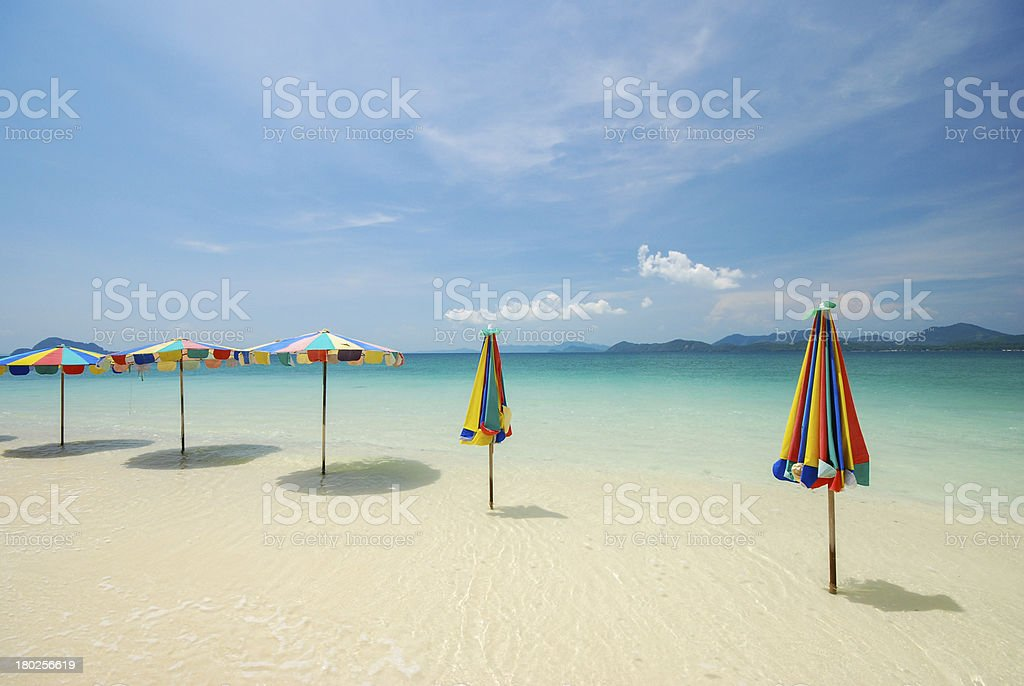 Colorful beach umbrella royalty-free stock photo