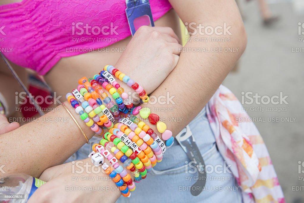 Colorful Beaded Bracelets. royalty-free stock photo