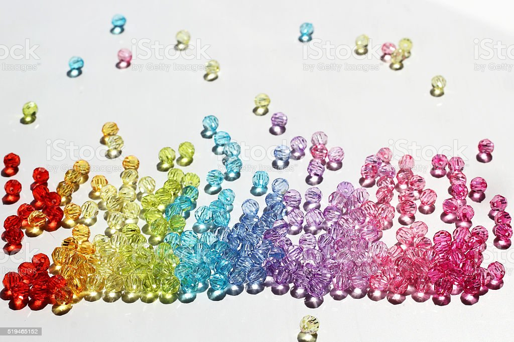 Colorful beads for background stock photo