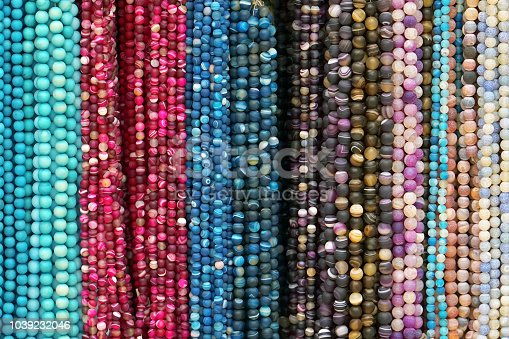 istock Colorful beads necklaces. 1039232046