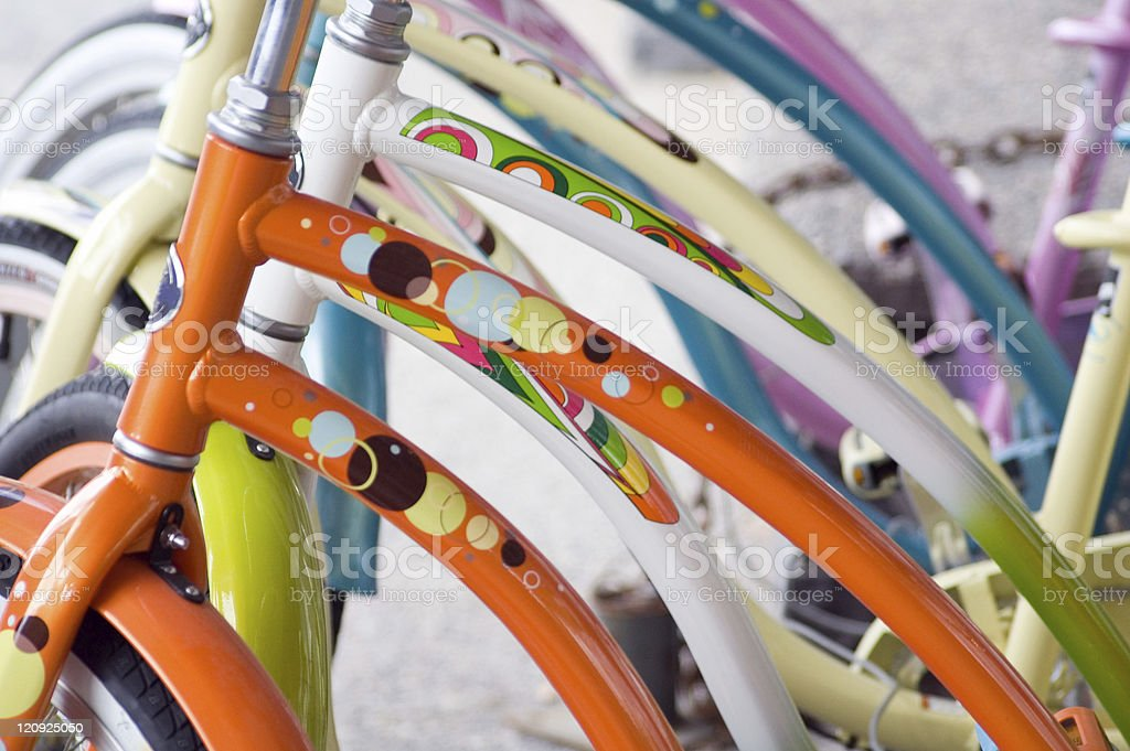 Colorful Bike Frames royalty-free stock photo