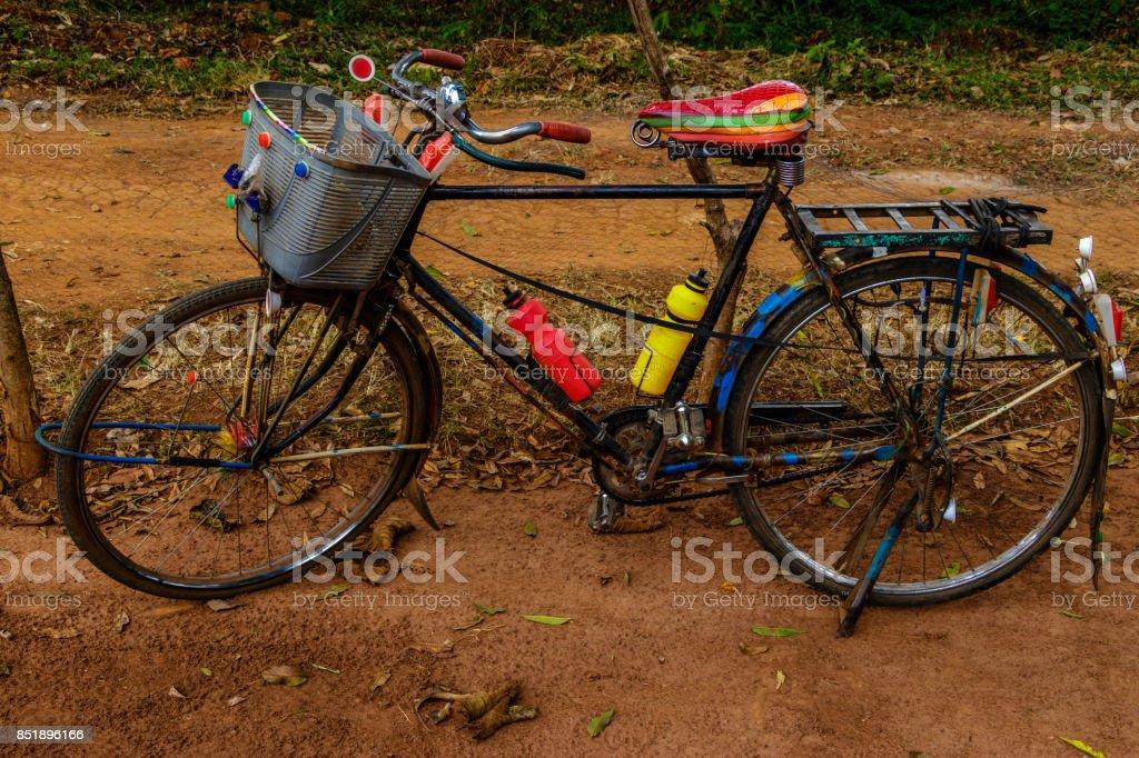 Colorful bike stock photo