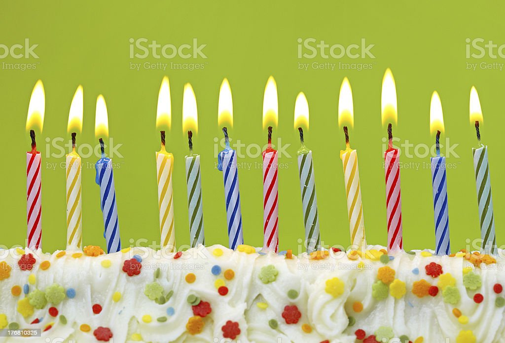 Colorful birthday candles stock photo