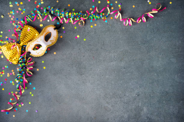 Colorful birthday or carnival background stock photo