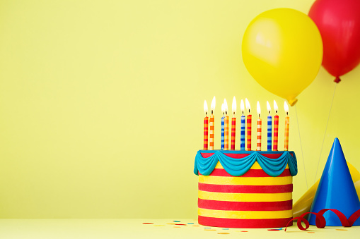 Colorful birthday party background