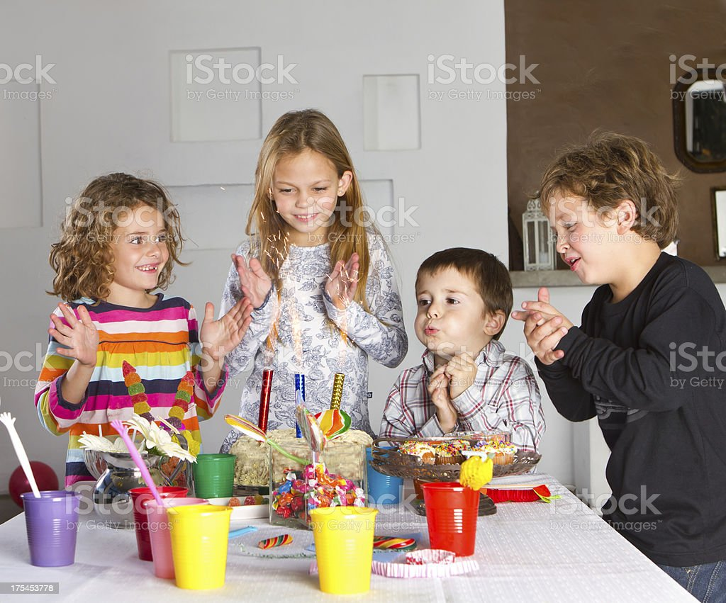 Colorful birthday's party stock photo