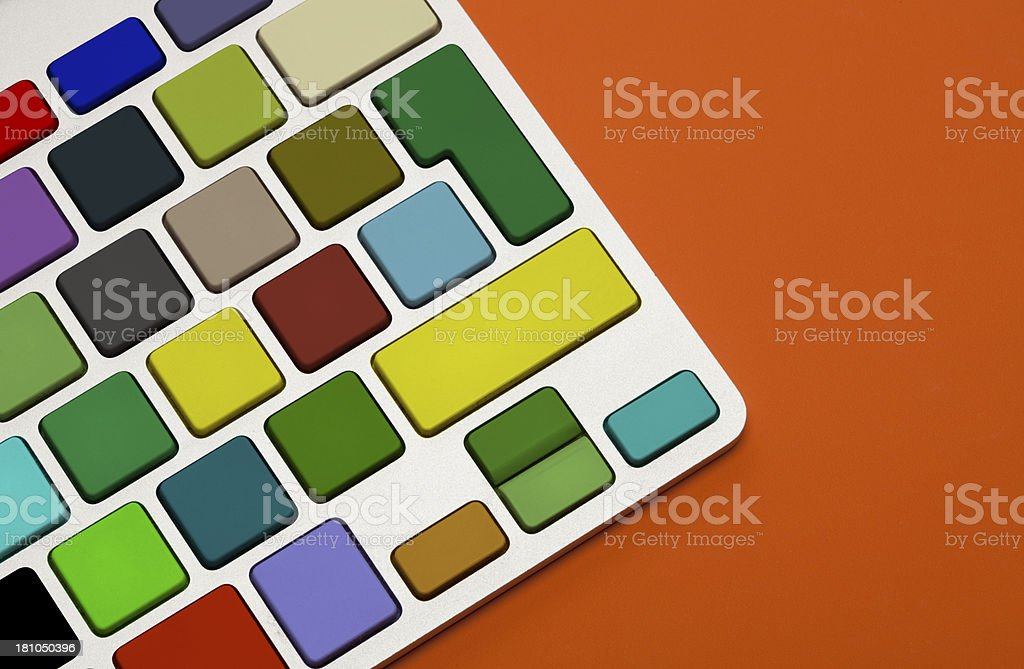 Colorful Blank Computer Keyboard royalty-free stock photo