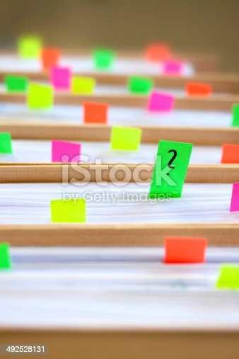 istock Colorful blank sticky notes - business concept. 492528131