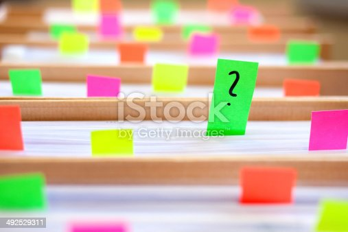 istock Colorful blank sticky notes - business concept. 492529311