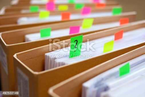 istock Colorful blank sticky notes - business concept. 492533149