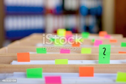 istock Colorful blank sticky notes - business concept. 492533159