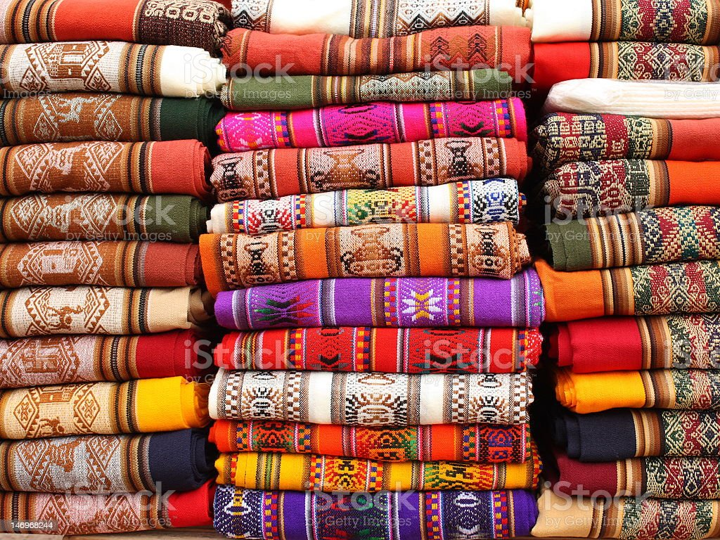 Colorful Blankets royalty-free stock photo
