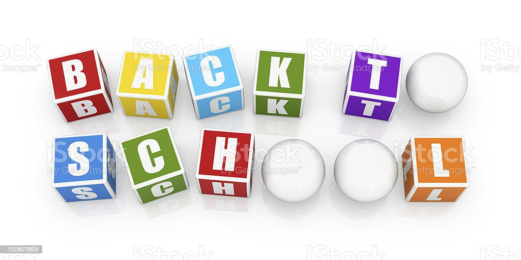 Colorful Block Series - BACK TO SCHOOL royalty-free stock photo