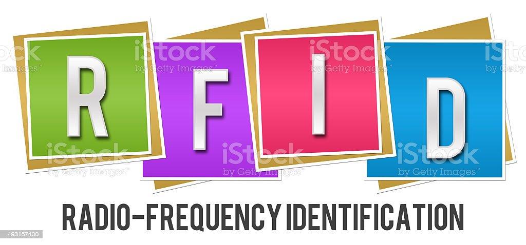 RFID Colorful Blocks stock photo