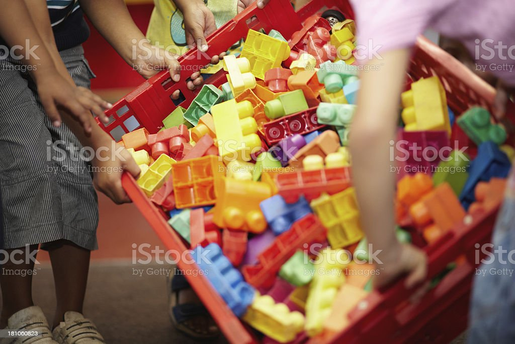Colorful blocks to stimulate young minds stock photo
