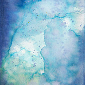 Blue Watercolor Background Stock Photo - Download Image Now