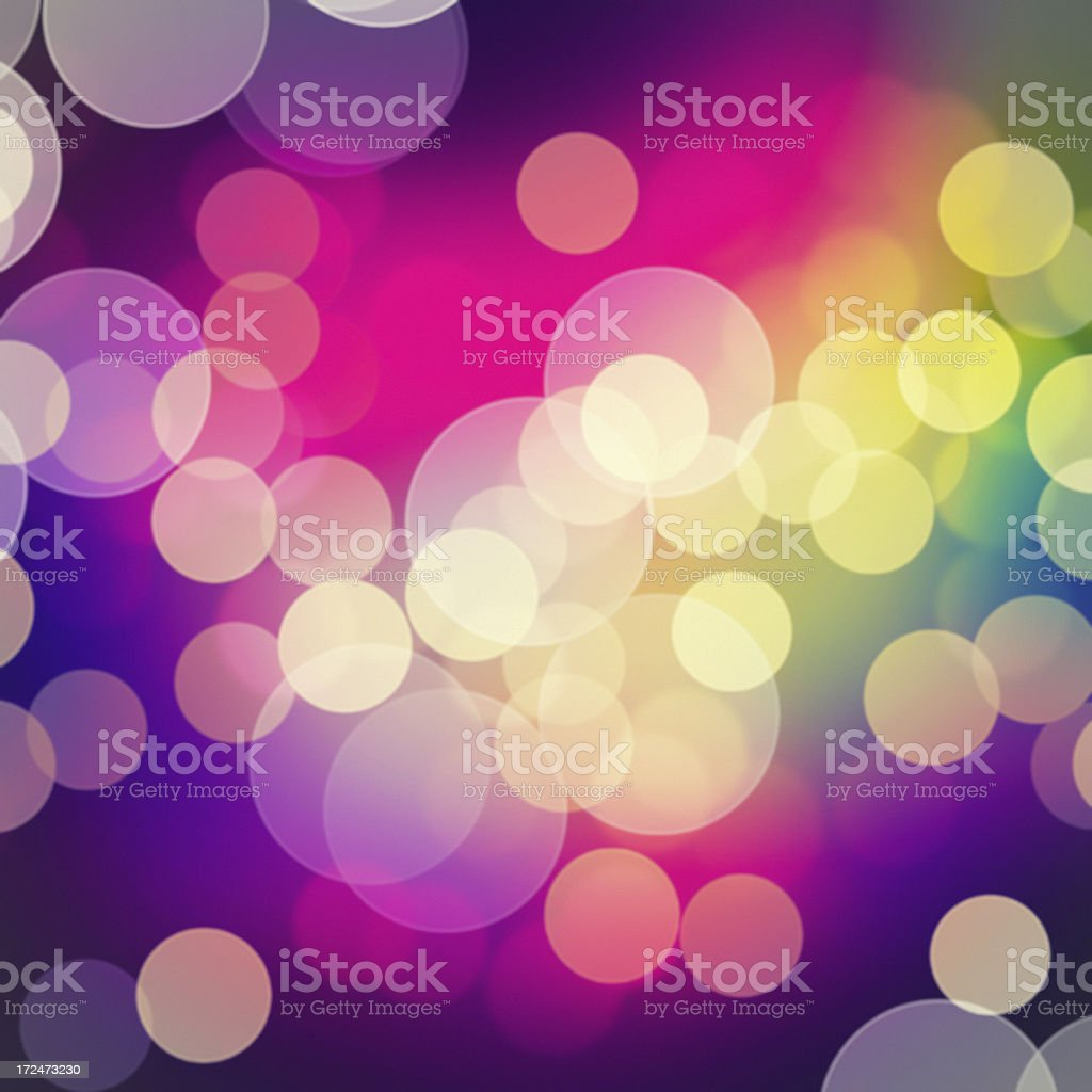 Colorful blurred light spots abstract background stock photo