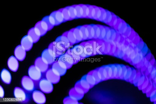 Colorful blurred lights on stage, abstract image of concert lights