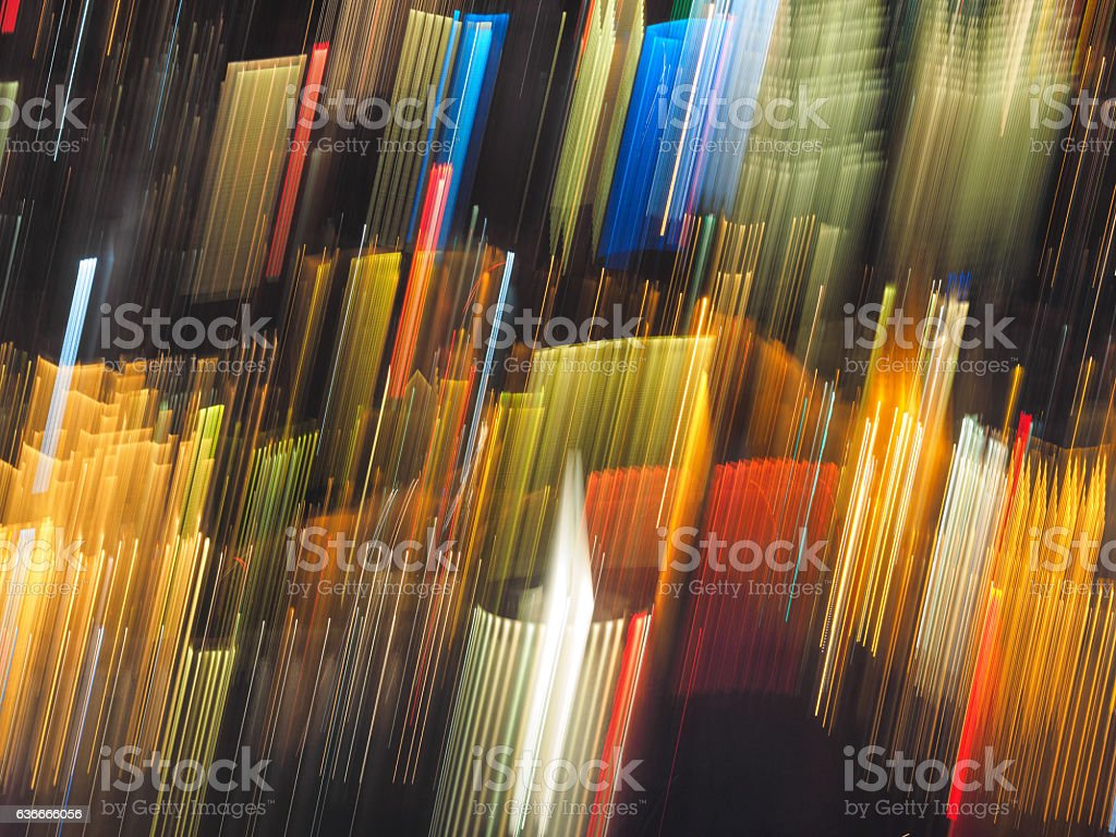 Colorful blurry light lines. stock photo