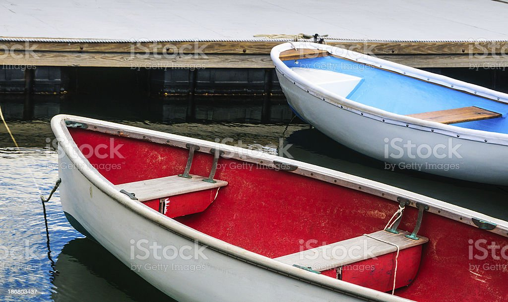 Colorful Boats at the Dock royalty-free stock photo