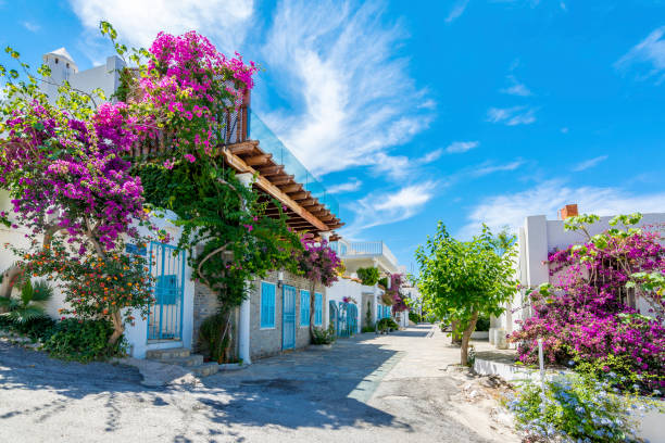 Colorful Bodrum Houses stock photo