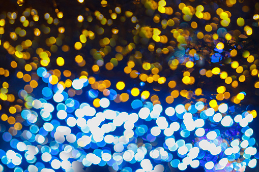 istock Colorful bokeh abstract light backgrounds, blurred lights for Christmas night light holiday 1271876371