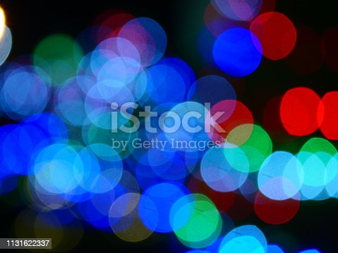 istock Colorful bokeh background 1131622337