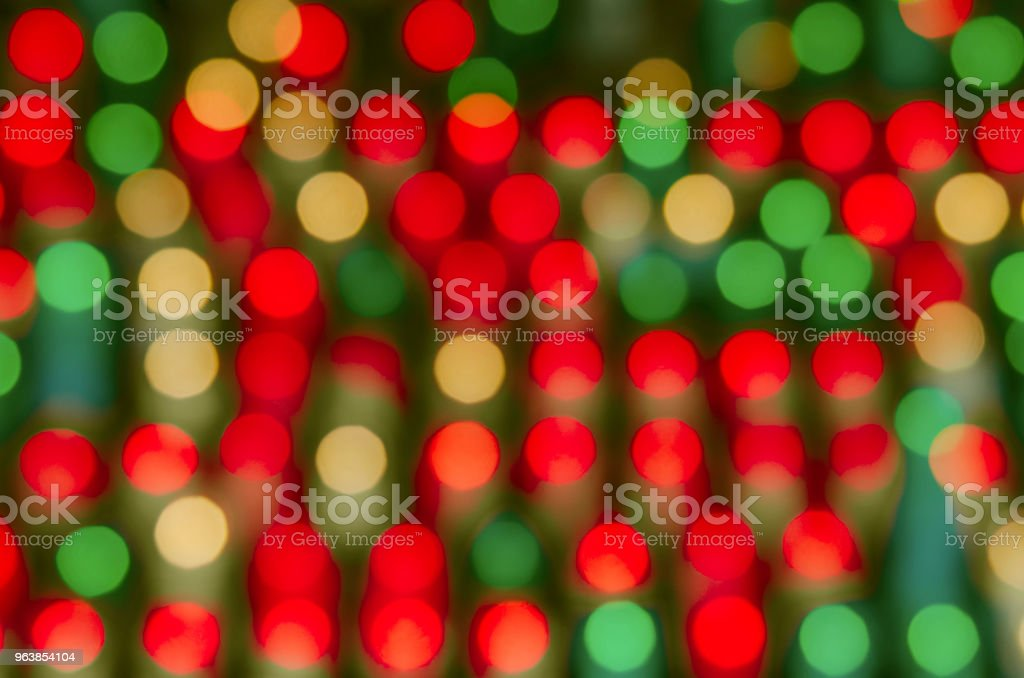 Colorful bokeh in warm colors - Royalty-free Abstract Stock Photo