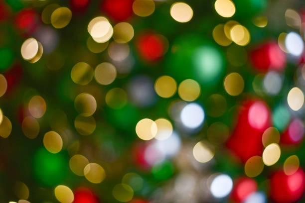 bokeh colorido - christmas lights - fotografias e filmes do acervo