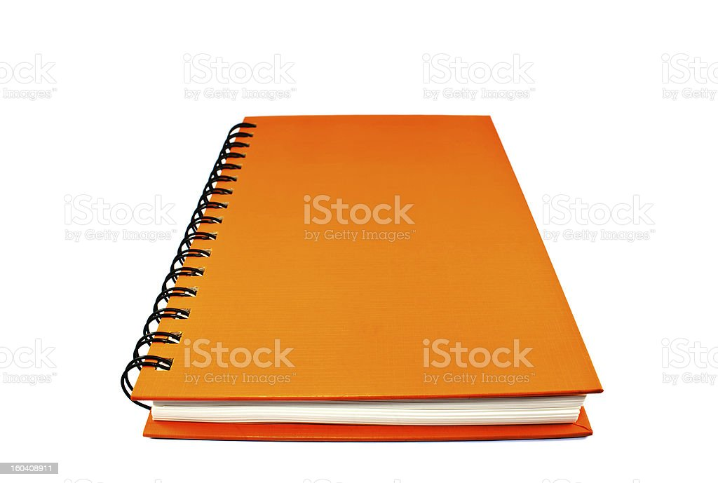 Colorful book isolated on white background royalty-free stock photo