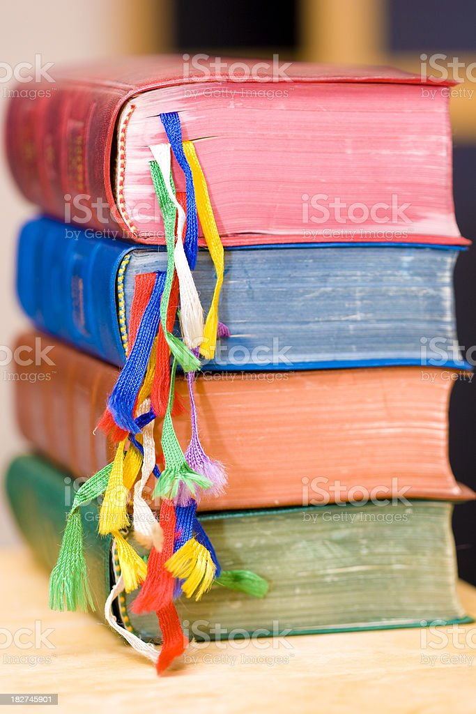 Colorful bookmarks stock photo