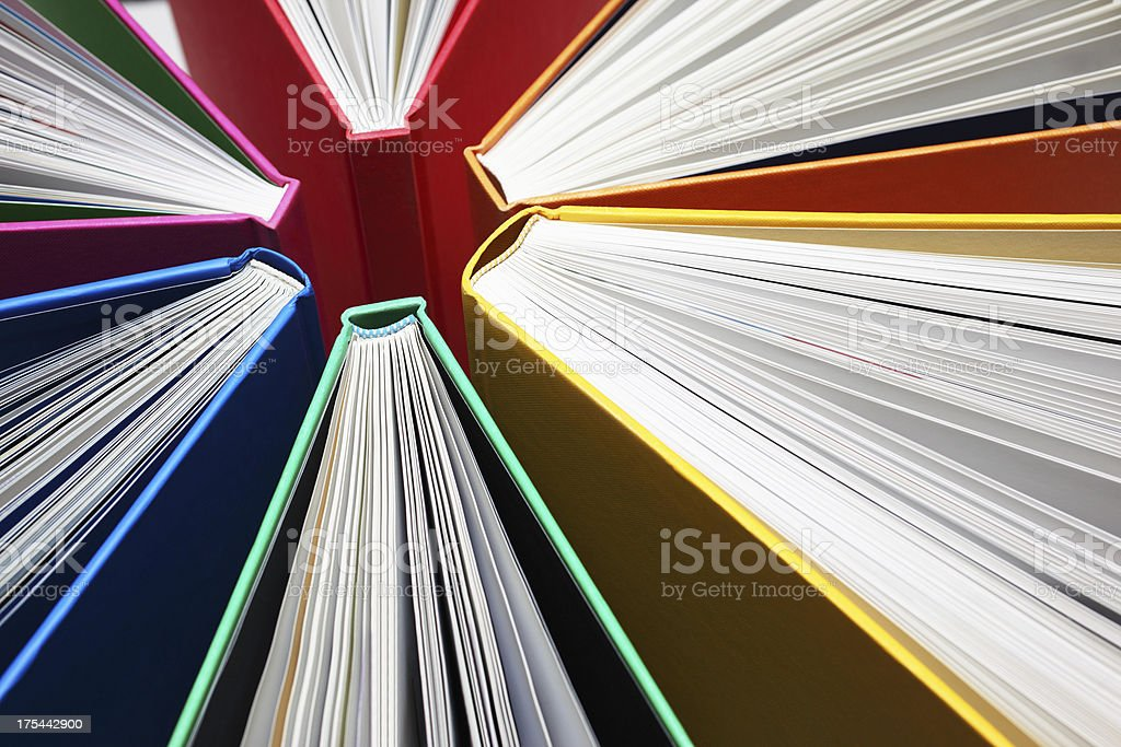 Colorful Books Abstract royalty-free stock photo