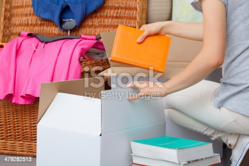 istock Colorful books packing 479282513