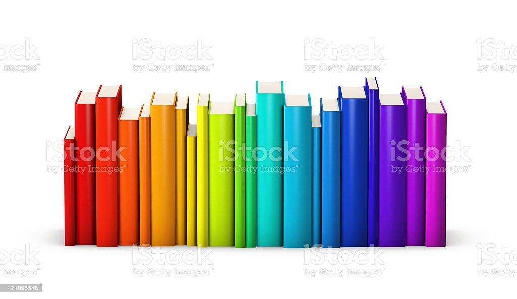 Colorful books stock photo