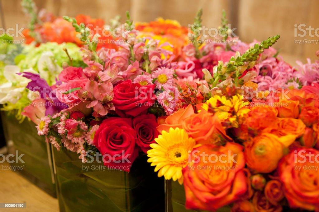 Bunte Blumensträuße - Lizenzfrei Baumblüte Stock-Foto