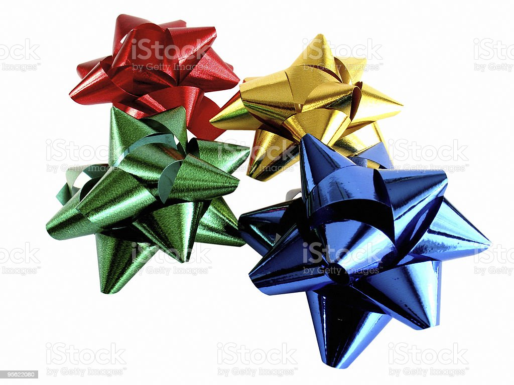 colorful bows royalty-free stock photo