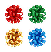 istock Colorful bows set. 176961657