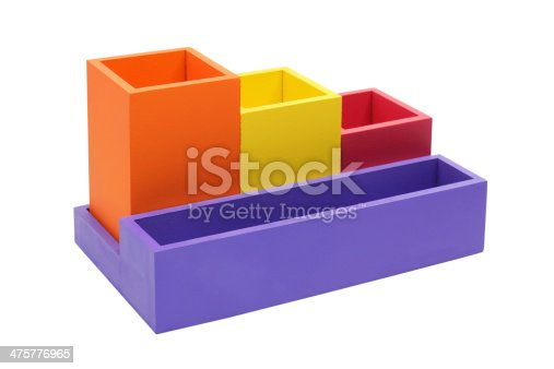 472273278 istock photo Colorful box  isolated on white 475776965