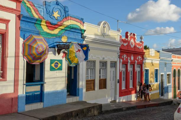 casas coloniais brasileiras coloridas - recife e olinda - fotografias e filmes do acervo