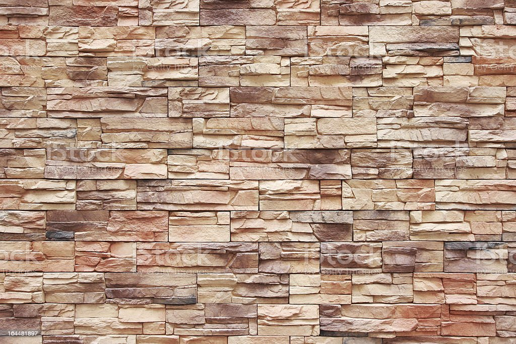 Colorful brick wall as background royalty-free stock photo