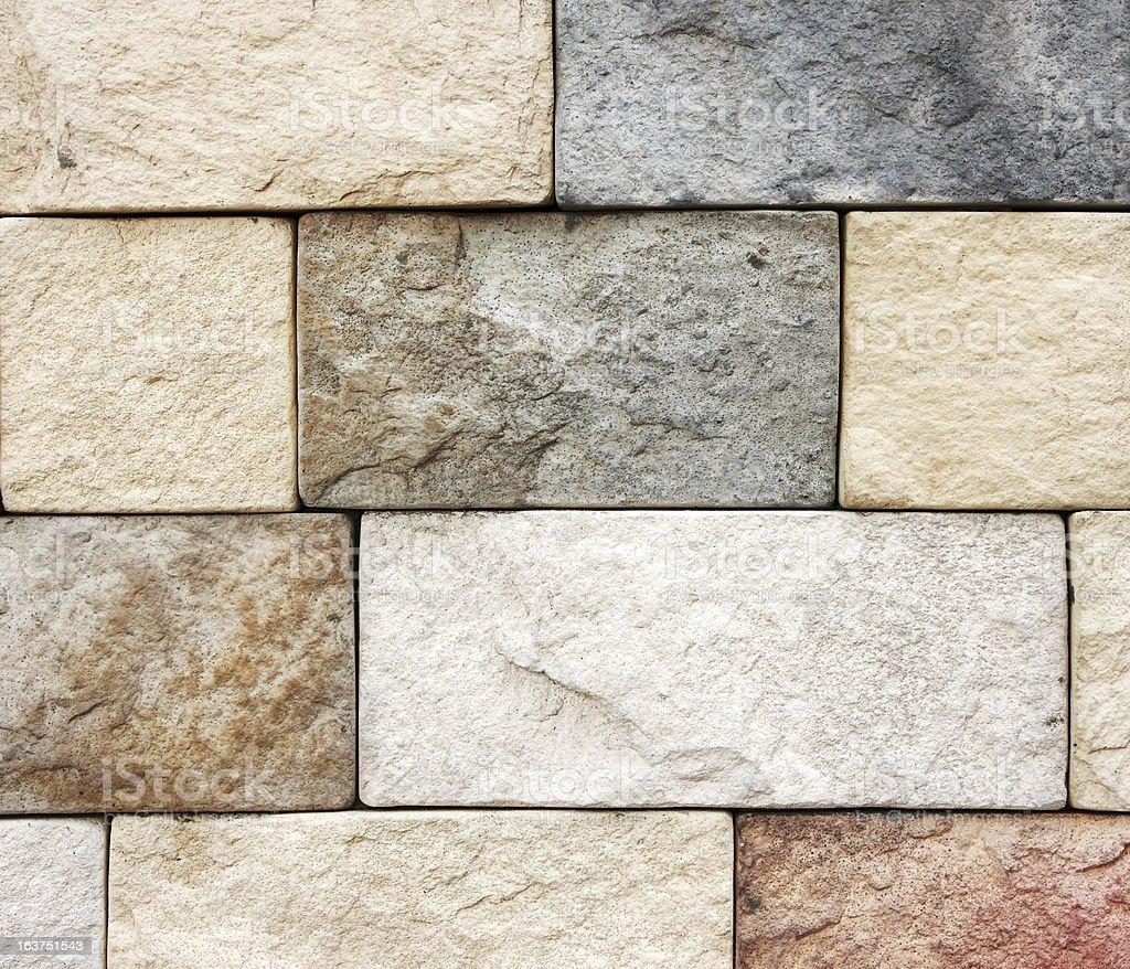 Colorful brick wall. royalty-free stock photo